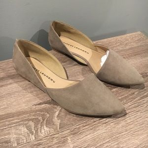Chinese laundry women's light tan suede flats